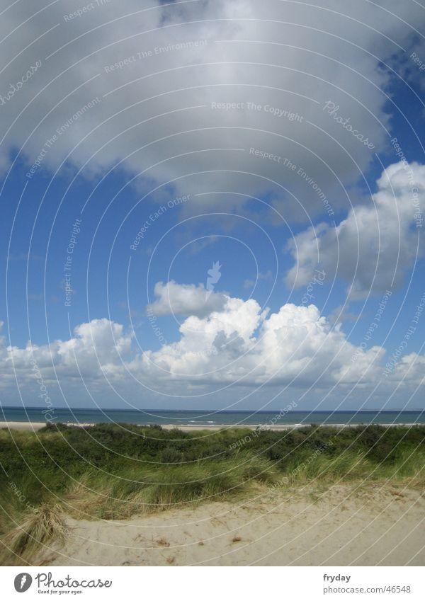 Sky Ocean Beach Clouds Lake Sand Coast Beach dune North Sea Bad weather