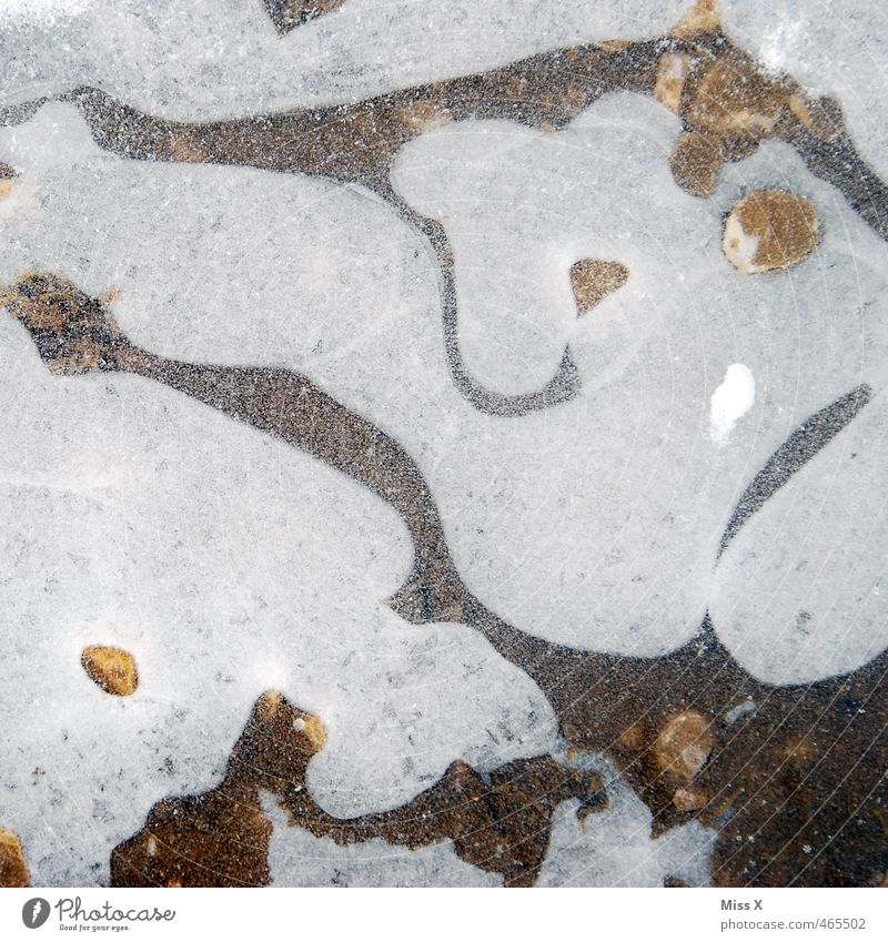 chill Water Winter Ice Frost Snow Cold Puddle Frozen Weather Colour photo Subdued colour Exterior shot Pattern Structures and shapes Deserted Bird's-eye view