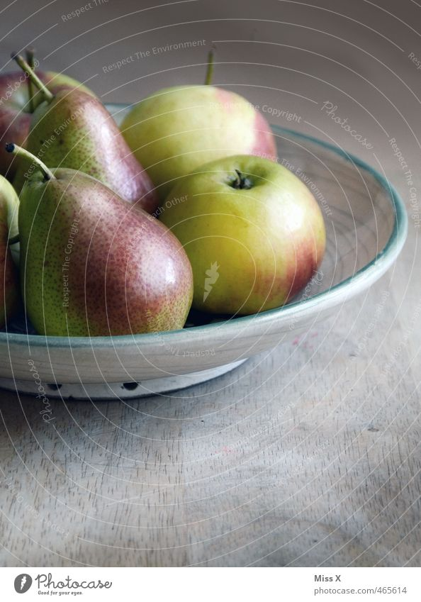Pear like apple Food Fruit Apple Nutrition Organic produce Vegetarian diet Bowl Fresh Healthy Delicious Juicy Sour Sweet Still Life Wooden table Country house