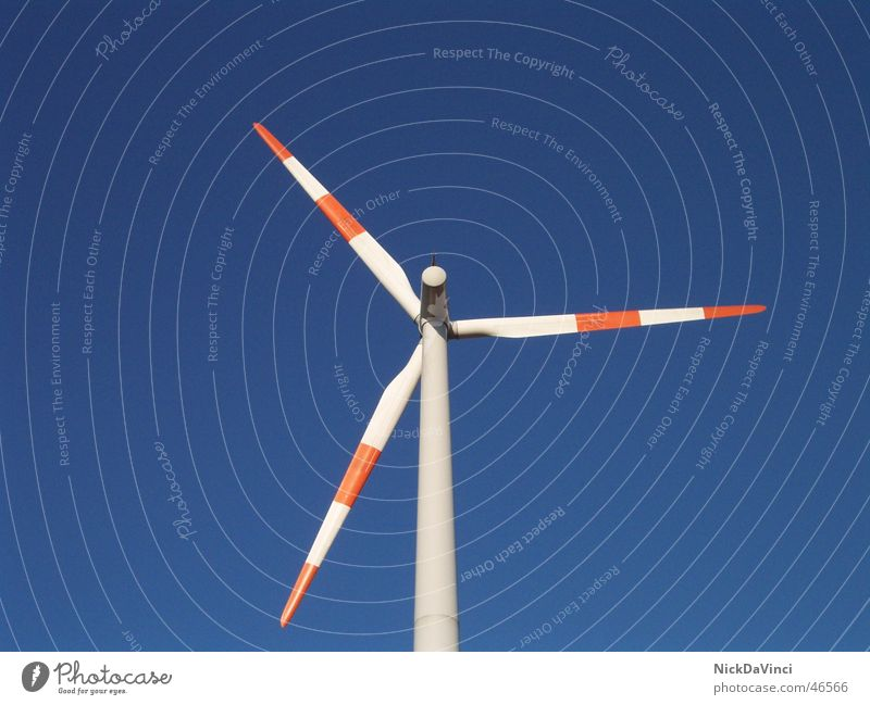modern windmill II Environmental protection Free-of-charge Wind energy plant Electricity Back draft Aerodynamics Renewable energy Gust of wind Energy industry