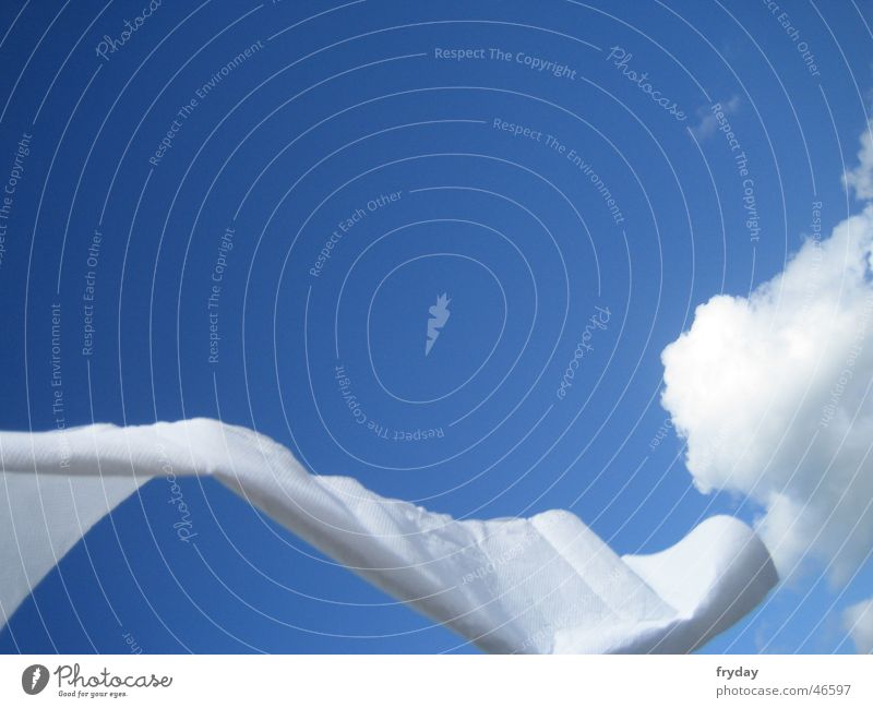 Schlängel I Clouds White Sky Rag Blue Wind Movement Dynamics
