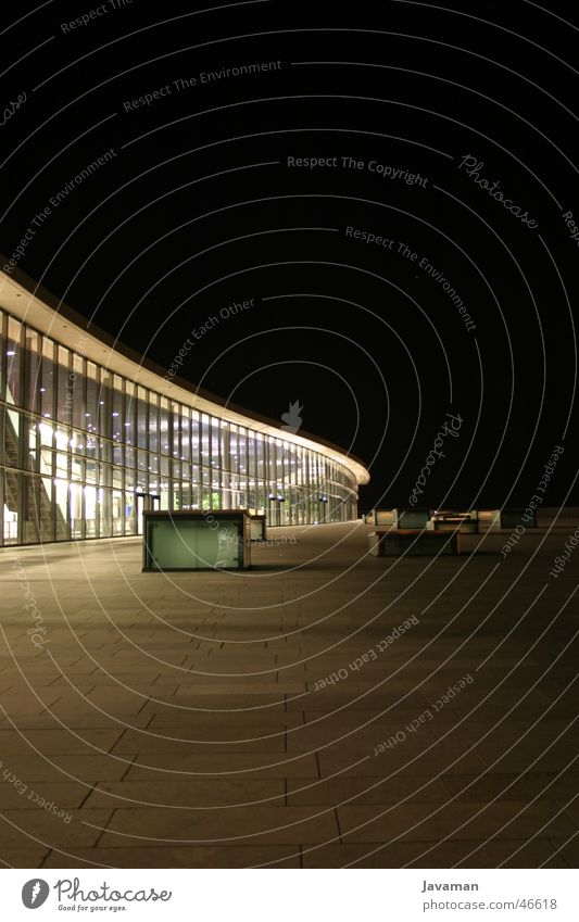 CCD at Night Dresden congress centre Modern Architecture