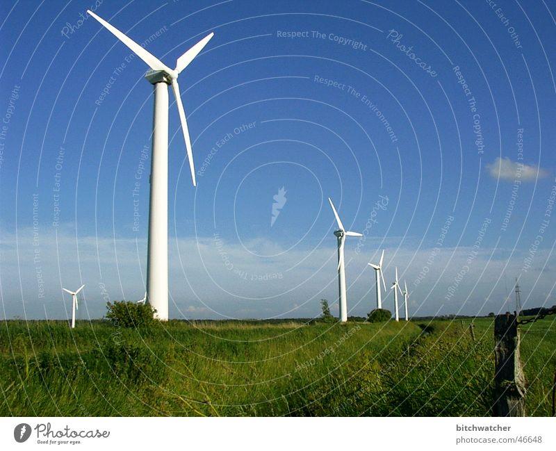 alternative energy Wind energy plant Tough guy East Frisland Sky Blue sky Renewable energy Energy industry