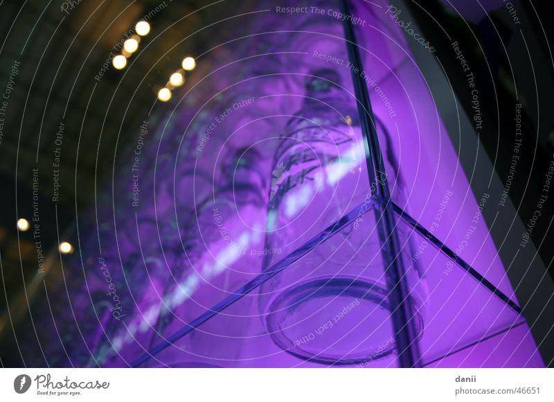 Purple bottles in the cupboard Schrannenhalle Violet Showcase Munich Bottle Glass Detail