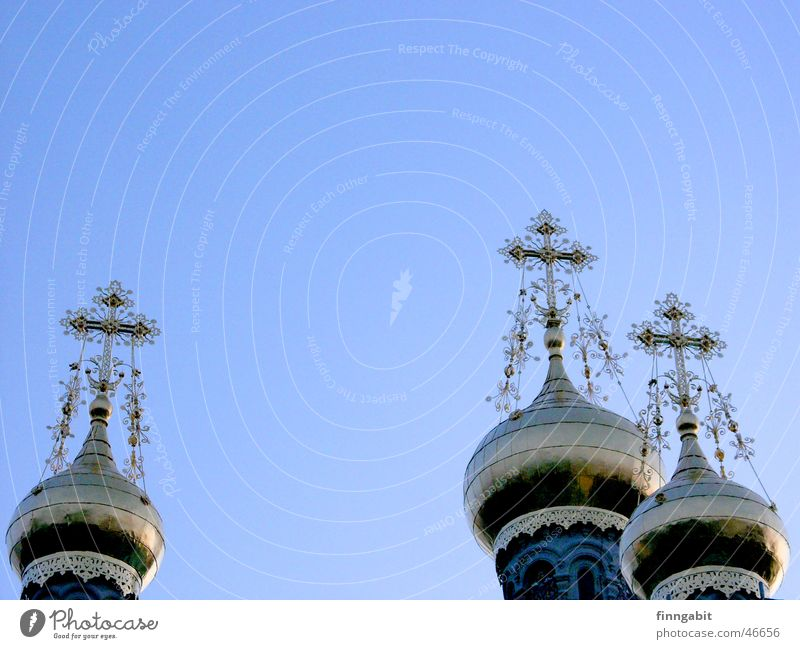 Sky Religion and faith Back Tower Russia Holy Christianity Darmstadt Orthodoxy Mathildenhöhe Onion tower