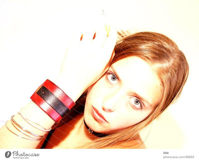 Woman Beautiful Face Eyes Sweet Posture Cigarette Make-up Wearing makeup