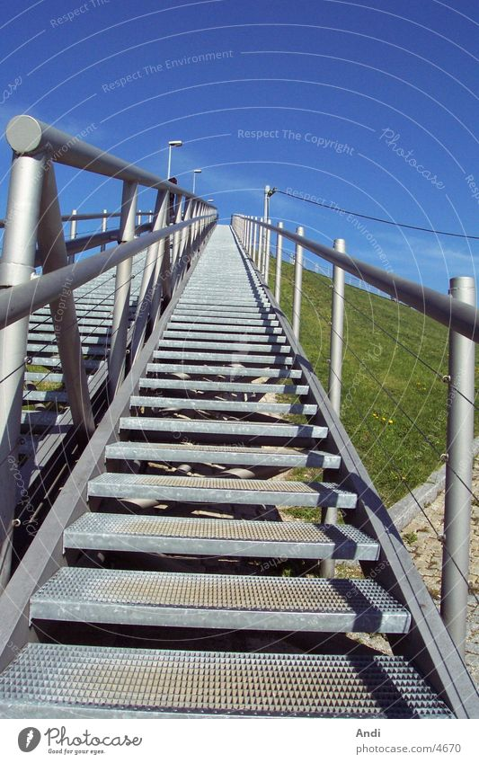 Sun Walking Tall Perspective Stairs Photographic technology