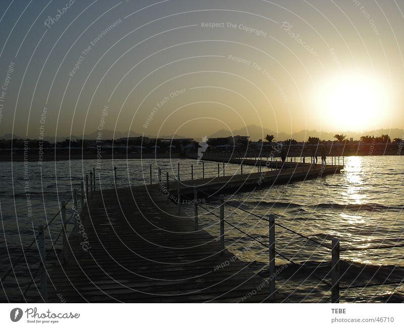 Sunset in Egypt Ocean Vacation & Travel Footbridge Water