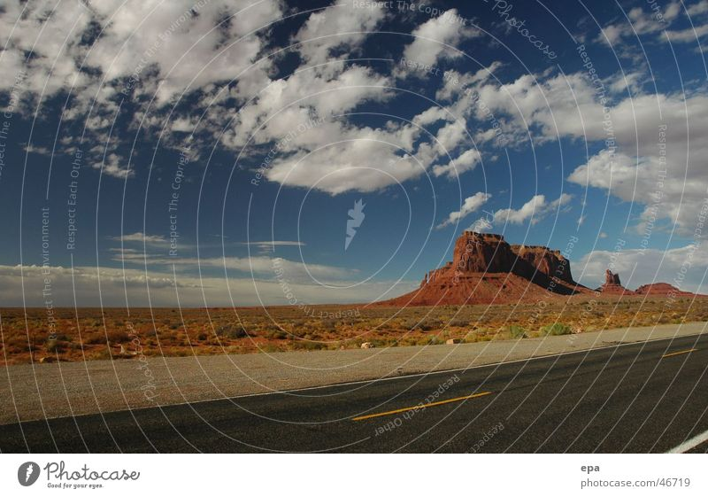 Sky Vacation & Travel Clouds Far-off places Street Freedom Landscape USA National Park Native Americans Monument Valley