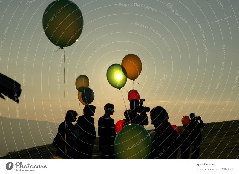 Sun in balloon Human being Visual spectacle Silhouette Balloon