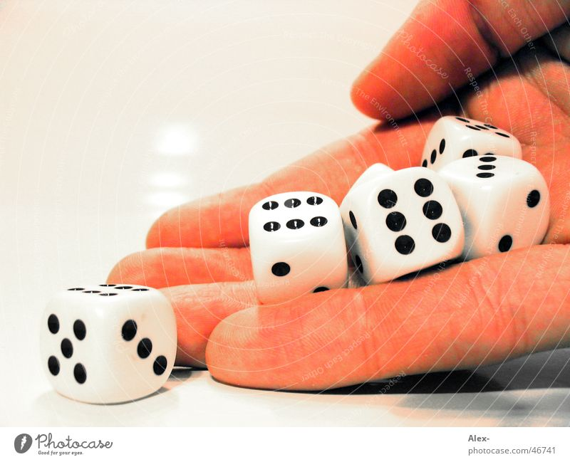 dice hand Hand Playing Game of chance Coincidence Joy Dice