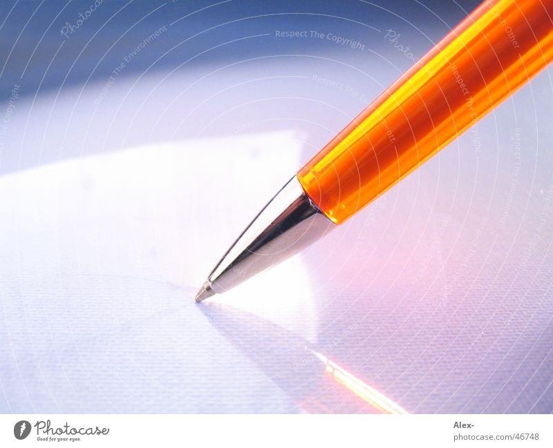 Leaf Business Orange Painting (action, work) Write Facial expression Material Pen Ballpoint pen Signature