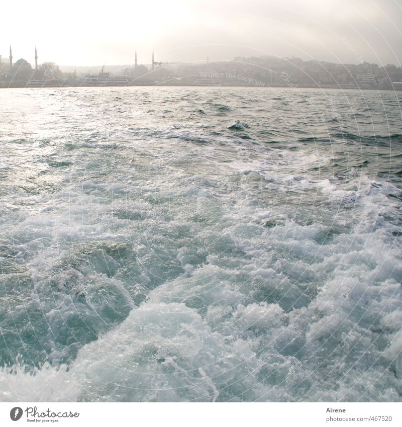 outpace sb./sth. Elements Water Sky Fog Waves Ocean Waterway Strait Istanbul Asia Turkey Capital city Skyline Deserted Mosque Navigation Movement Fresh Natural