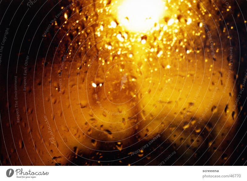 Lamp Dark Window Car Rain Bright Lantern Window pane