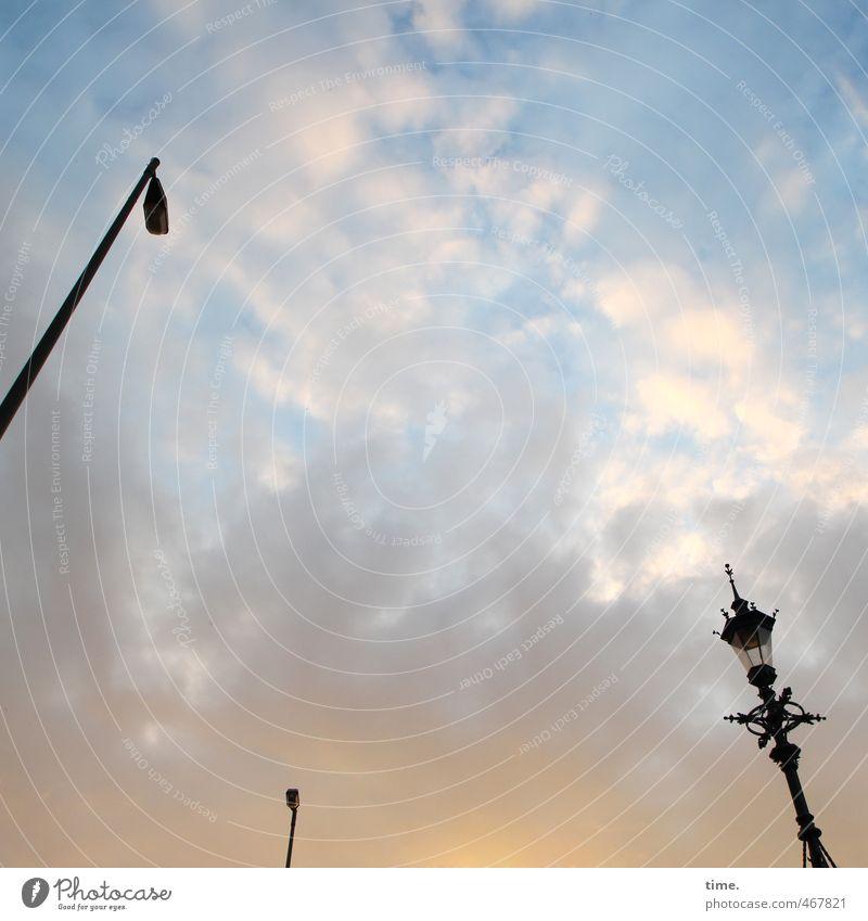 chandeliers Sky Clouds Street lighting Lamp post Historic Dependability Serene Contentment Help Communicate Competent Problem solving Modern Network Arrangement
