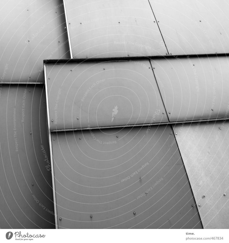 City Cold Wall (building) Wall (barrier) Architecture Building Gray Metal Facade Dirty High-rise Design Arrangement Perspective Simple Transience