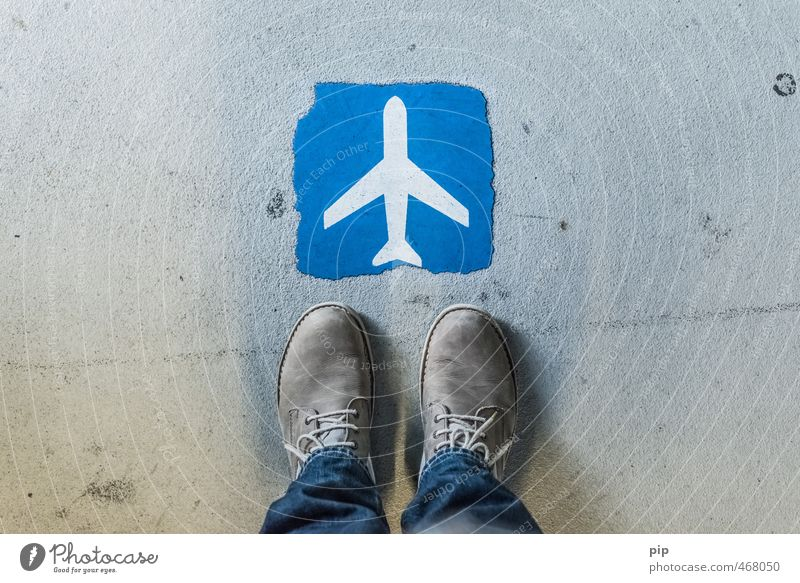 flight start Feet Pants Jeans Footwear Tourism Stand Airplane Signs and labeling Asphalt Airport Vacation & Travel cheap flight Blue Gate Check in Aviation