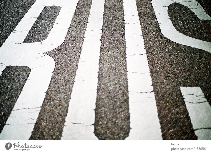 White Black Street Transport Perspective Characters Letters (alphabet) Driving Asphalt Typography Bus Passenger traffic Road traffic Means of transport