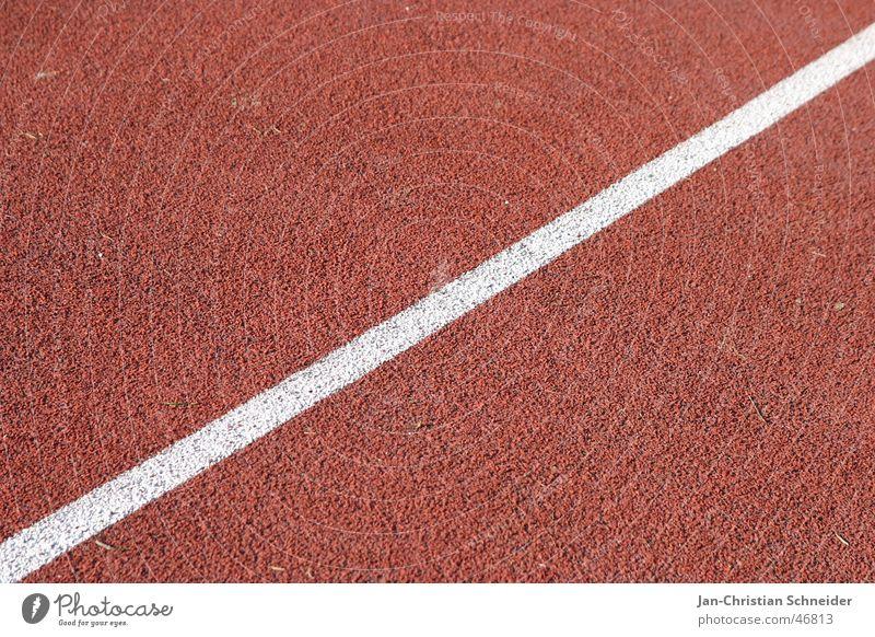Raceway 2 Red Stripe White Sun Light Subsoil Sporting event Resume Sportsperson Walking Shadow Floor covering Row Railroad Line
