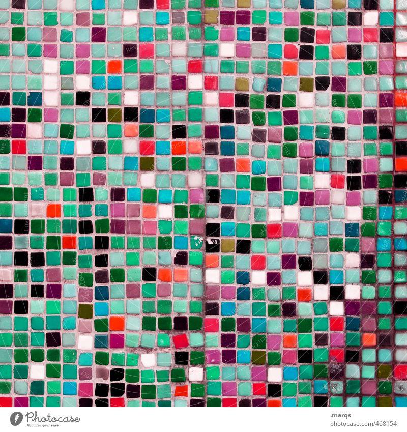 676 Lifestyle Elegant Style Design Art Wall (barrier) Wall (building) Mosaic Tile Line Simple Uniqueness Beautiful Many Multicoloured Colour Arrangement