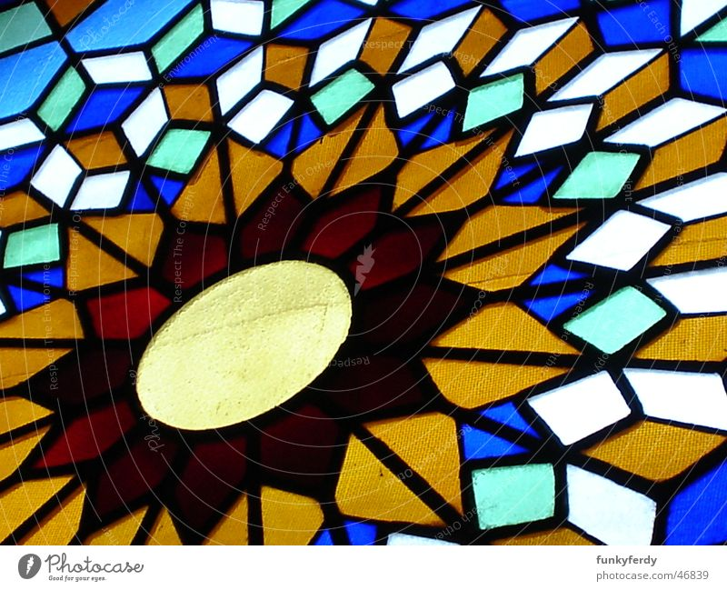 Joy Colour Window Luxury Past Geometry Cordoba Cathedral Spain Mezquita