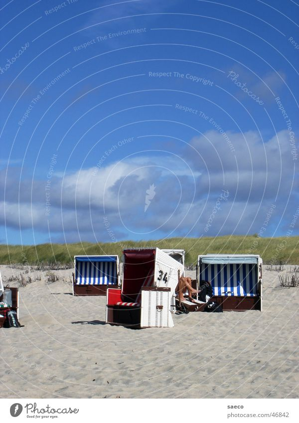 Zanzibar Beach Sylt Beach chair North Frisland Blue Sky