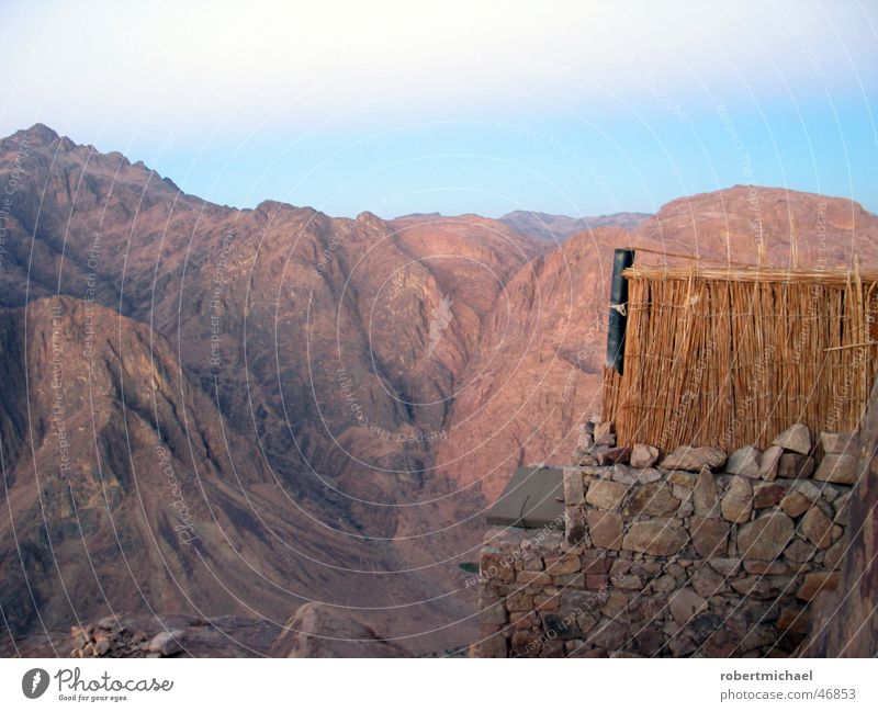 moses toilet Slope Egypt Clouds Panorama (View) Vacation & Travel St. Catherine's Monastery Mount Sinai Bedouin Morning Small Trash Red Dangerous