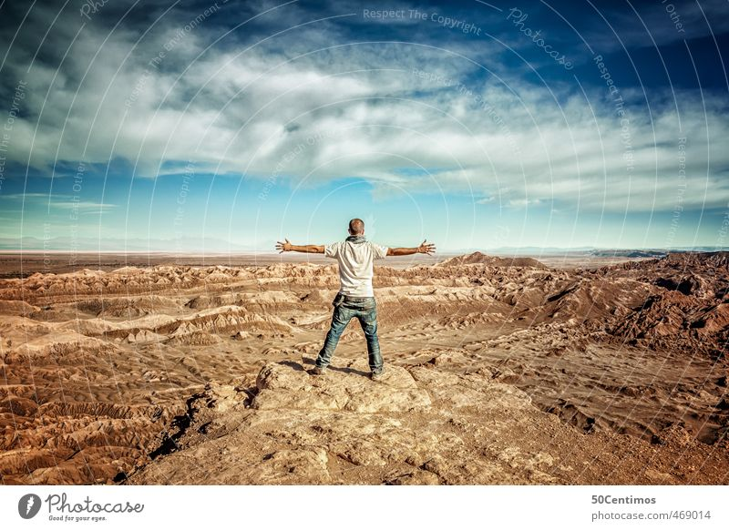 Human being Nature Youth (Young adults) Man Vacation & Travel Summer Sun Calm Landscape Joy Far-off places Adults 18 - 30 years Freedom Happy Moody