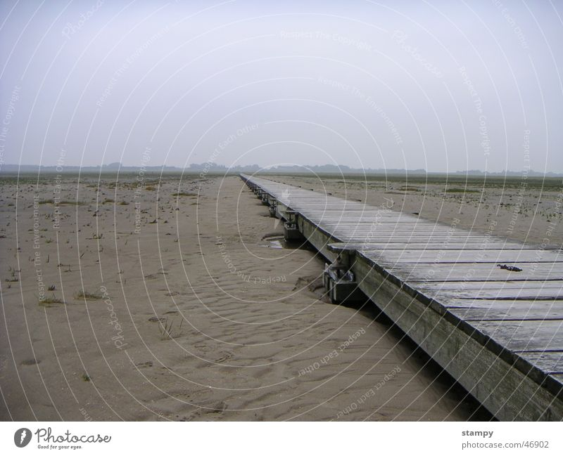 endless beach St. Peter-Ording Vacation & Travel Beach Infinity Footbridge Exterior shot Relaxation Sky Sand Far-off places Nature