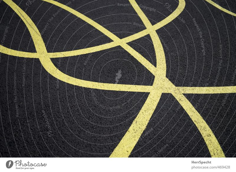 Yellow Gray Line Signs and labeling Crazy Muddled Wiggly line Ground markings