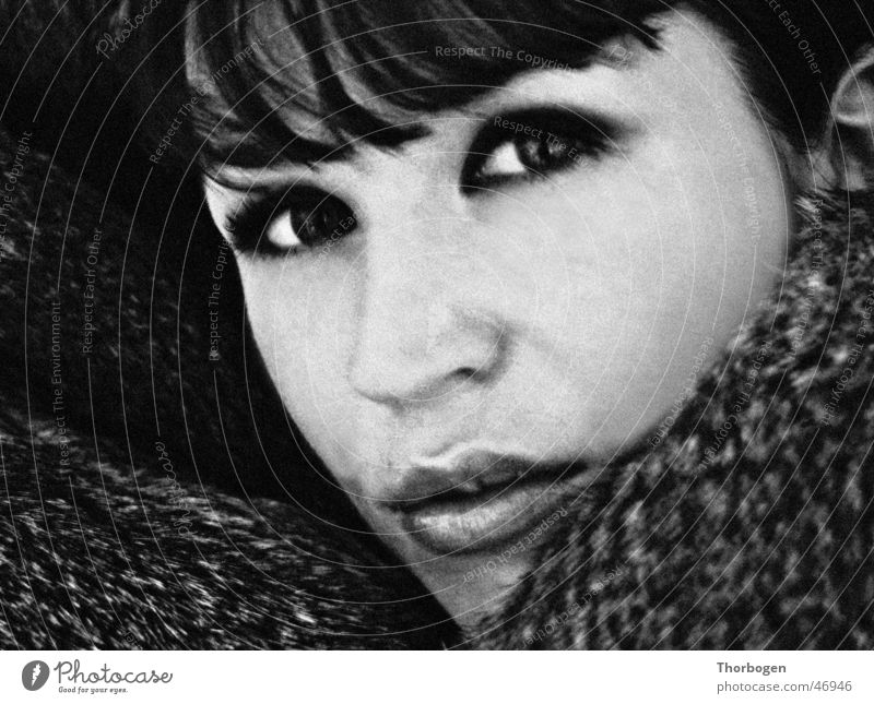 Woman Face Eyes Mouth Pelt Hair and hairstyles Bangs