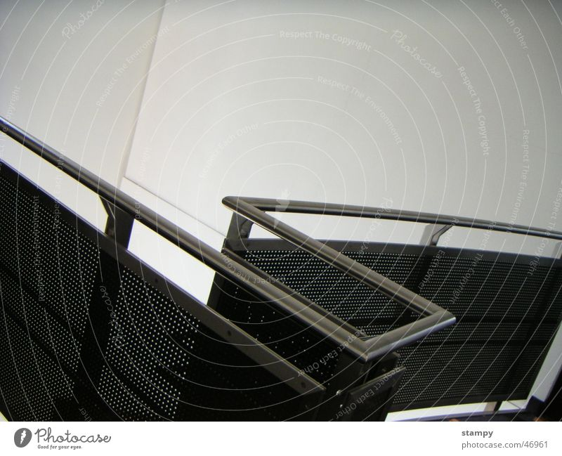 Design Railing Curve Line Handrail Metal Modern