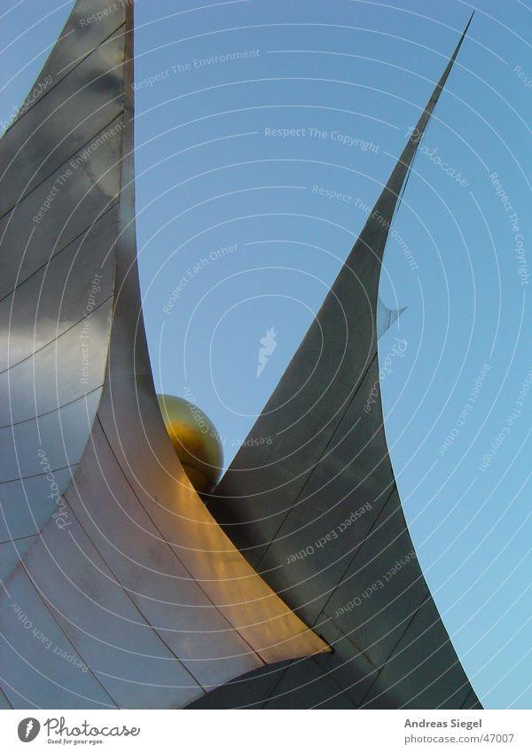 Sky Blue Metal Art Gold Culture Dresden Sphere Traffic infrastructure Silver Sculpture Prager Strasse