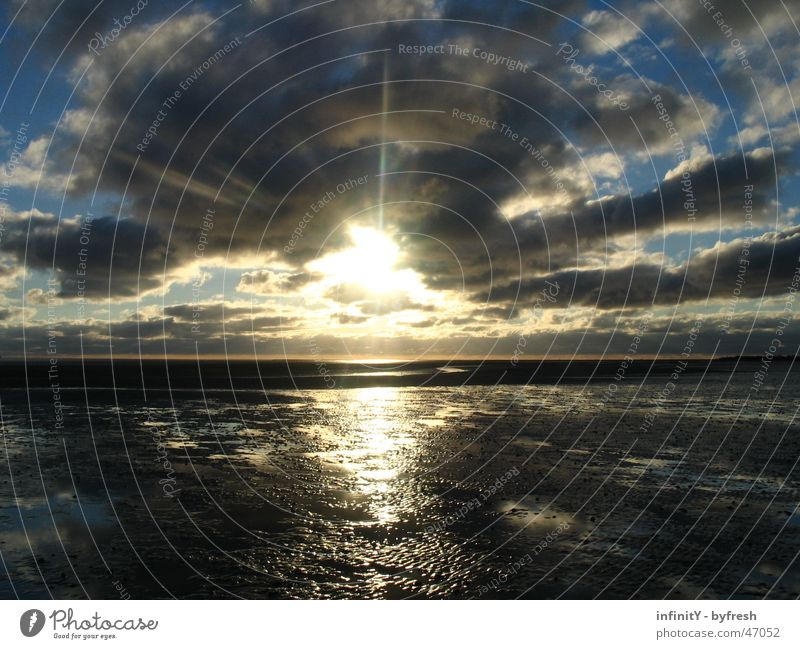 Water Beautiful Sun Joy Ocean Clouds Far-off places Freedom Landscape Moody Bright Germany Horizon Wet Glittering Free
