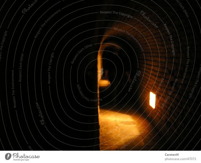 in the tunnel Tunnel Dark Light Prague Terezín Ghetto Fear Jewish Quarter Lighting Seeming Light (Natural Phenomenon) Vaulted arch Deserted Spooky Creepy