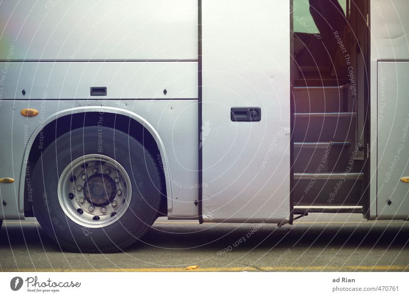 Up and away! Transport Means of transport Public transit Road traffic Bus travel Parking lot Movement Goodbye Wait Wheel Car door Stairs Vacation & Travel