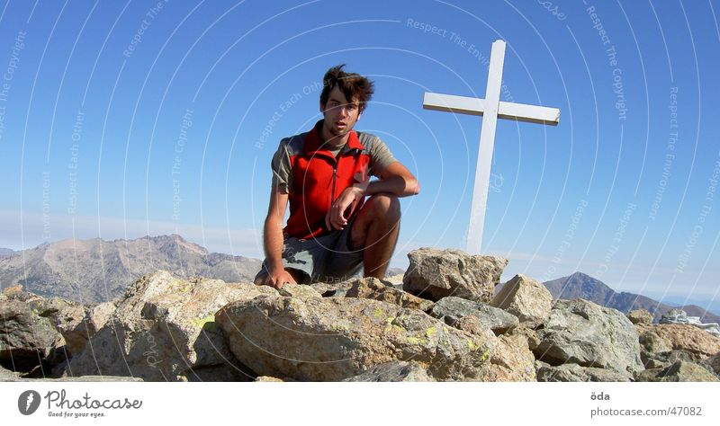 Mountain Back Climbing Peak Mountaineering Corsica Peak cross Monte d'Oro