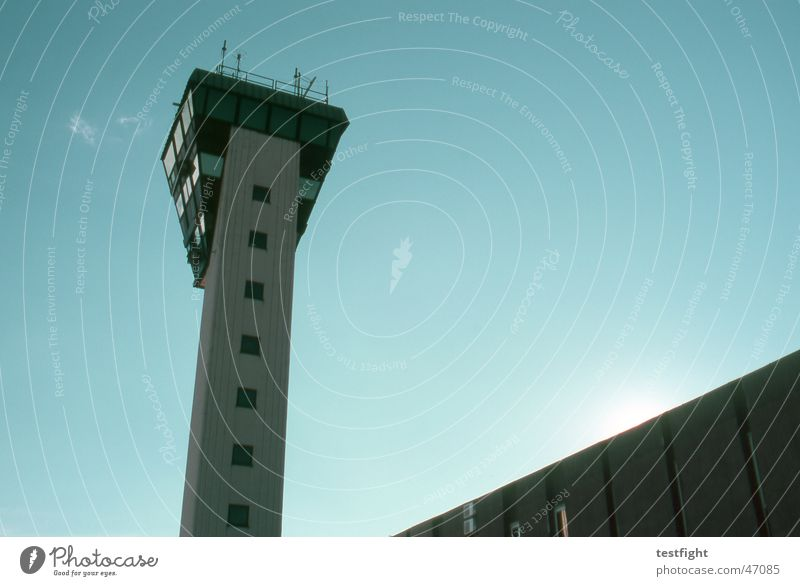 Sky Sun Summer Airplane Air Traffic Control Tower Airport Croatia Covers (Construction) Rijeka