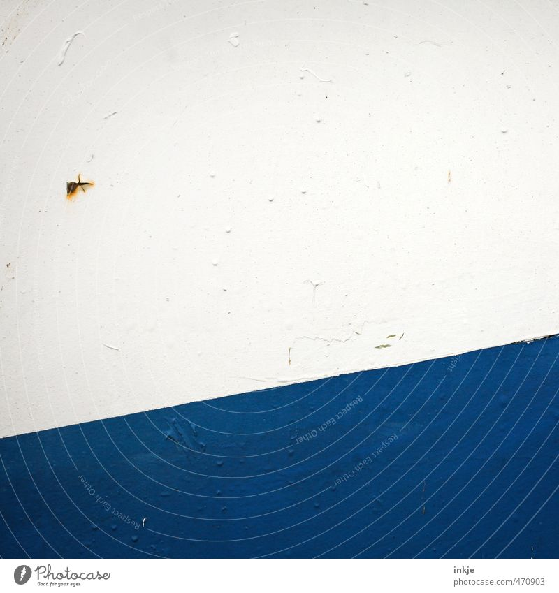 small helicopter crosses the Atlantic Ocean Deserted Facade Door Metal door Rust Line Stripe Diagonal Point Old Broken Small Funny Near Blue Brown White Horizon