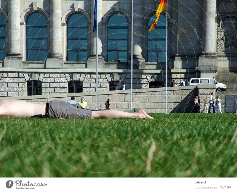 lazy at the Reichstag Relaxation Meadow Leisure and hobbies Exterior shot be lazy Lawn Berlin Houses of Parliament summer in berlin