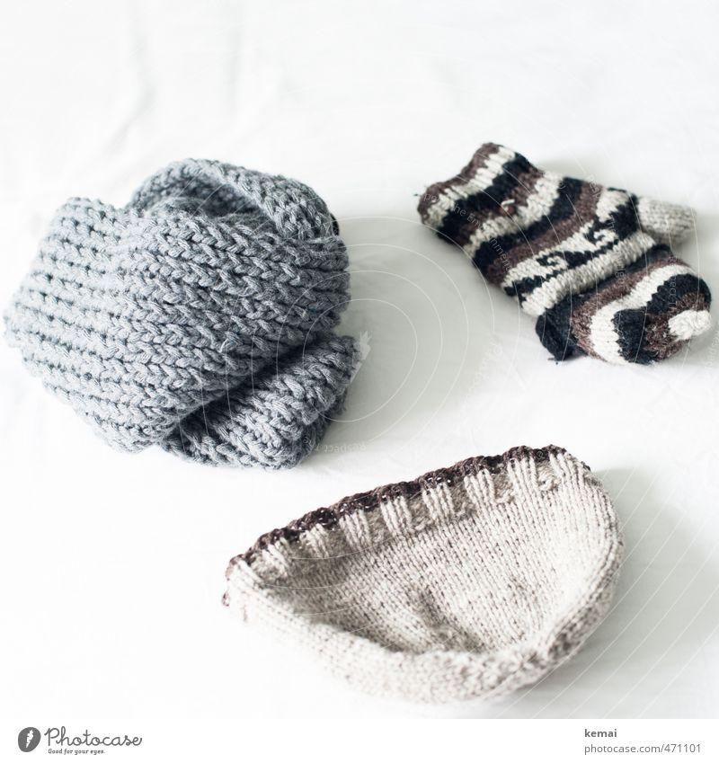 Winter Warmth Gray Bright Lie Cap Scarf Beige Wool Gloves Woolen hat Knitted Winter clothing