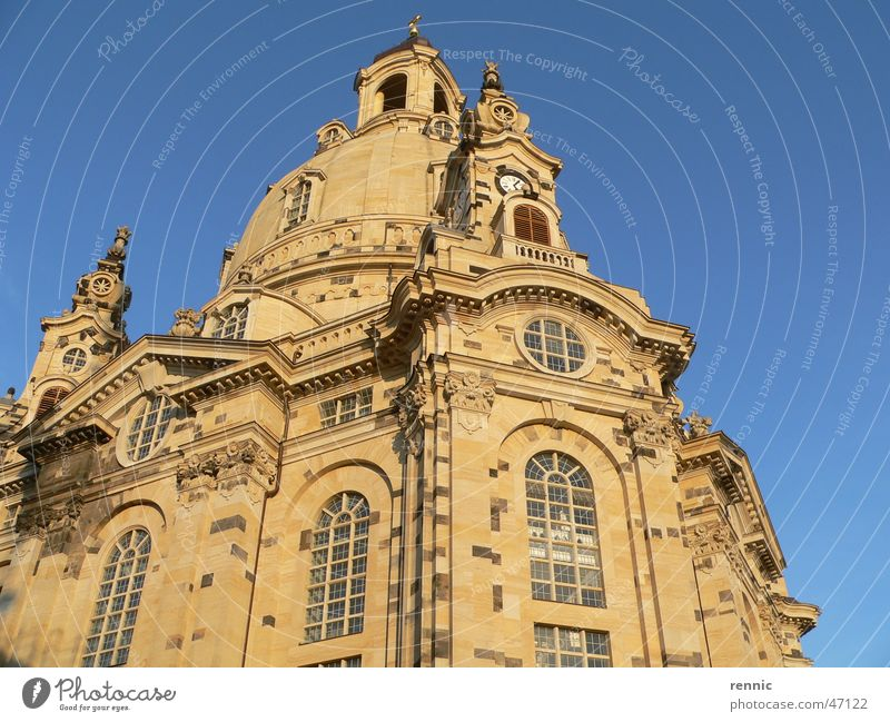 Religion and faith Dresden Elbe Renewal Frauenkirche New market