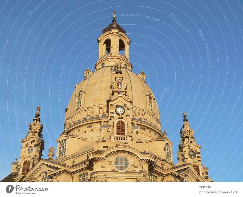 Religion and faith Dresden Elbe Renewal Frauenkirche New market