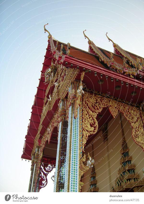 Sky Summer Vacation & Travel Gold Roof Asia Decoration Point Thailand Buddhism Temple Buddha Adornment Mosaic Vietnam Bangkok