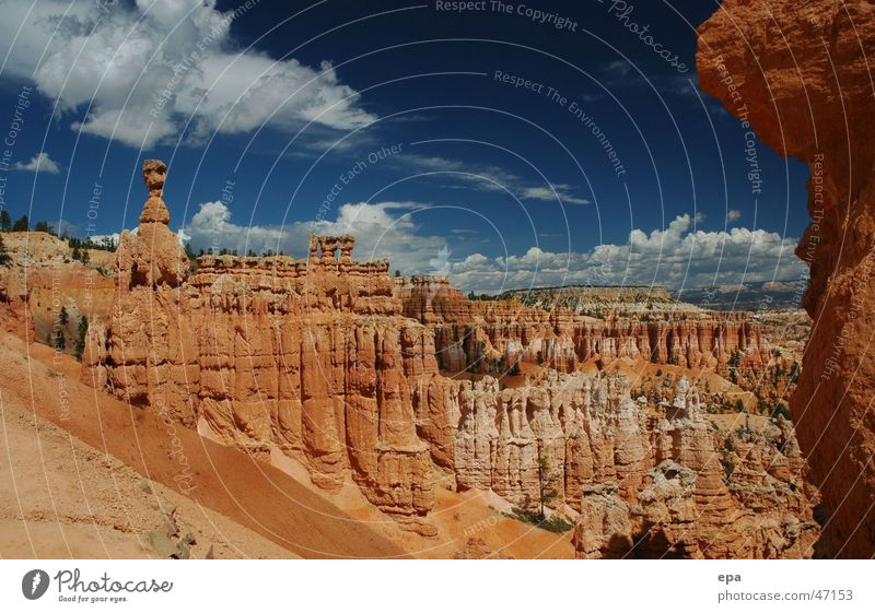 Bryce Canyon 2 National Park Red Vacation & Travel USA Stone Sky Landscape Far-off places Freedom Miracle of Nature