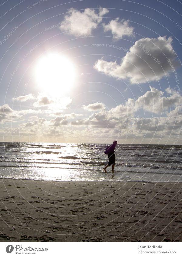 Beach Loneliness Far-off places Hiking North Sea Illumination