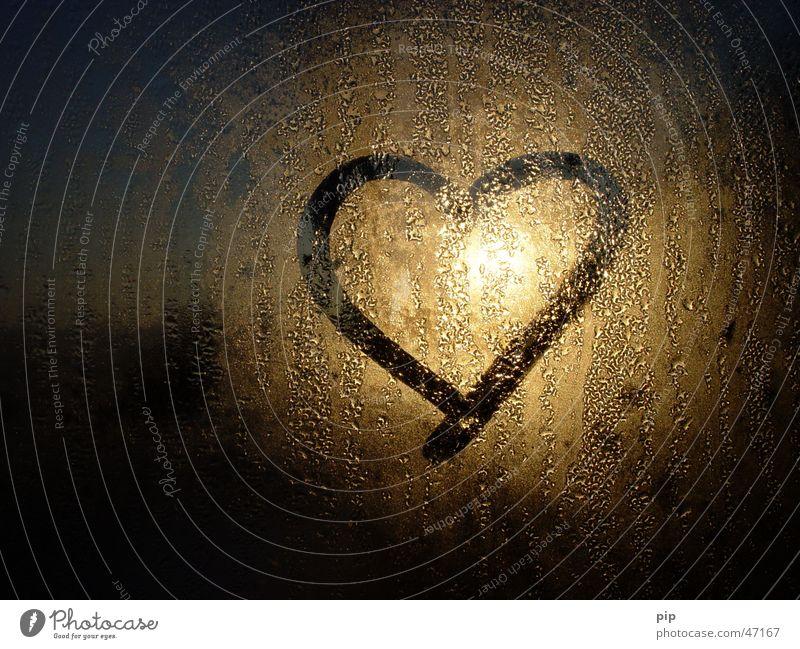 Water Sun Joy Loneliness Love Cold Dark Window Graffiti Dream Bright Gold Glass Fog Heart Wet