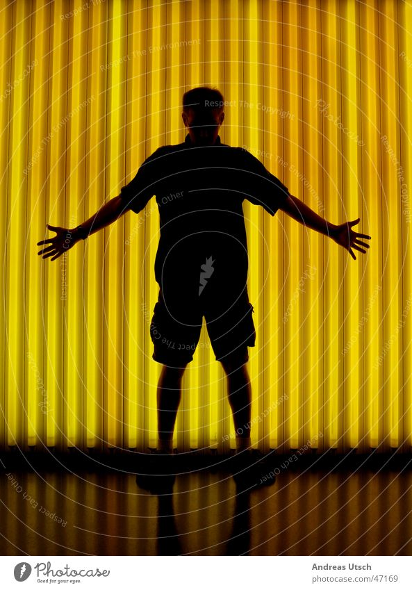 Human being Black Yellow Lamp Arm Fingers Cloth Museum Shorts Visual spectacle Hand Disperse Fluorescent Lights
