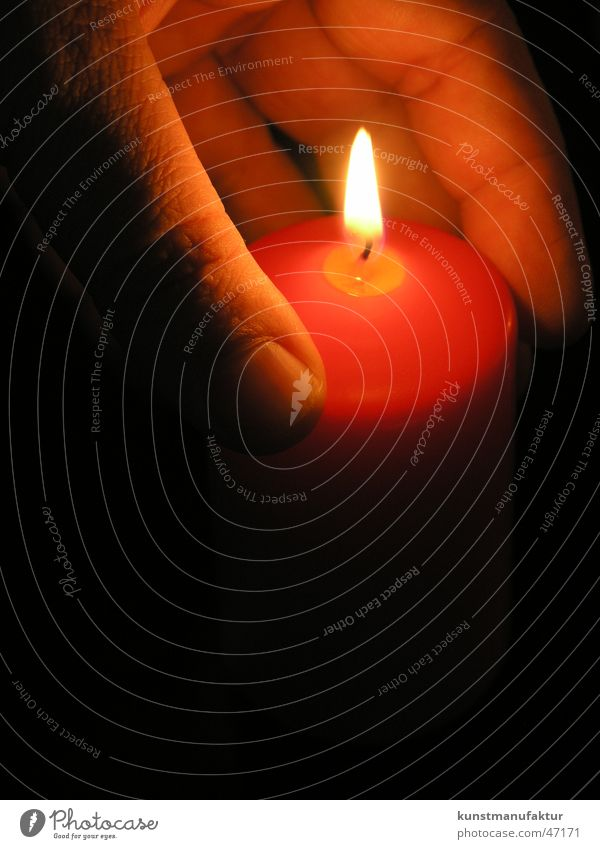 Dark Bright Moody Candle Romance
