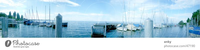 Water Vacation & Travel Far-off places Lake Watercraft Large Sailing Panorama (Format) Sailboat Lake Constance